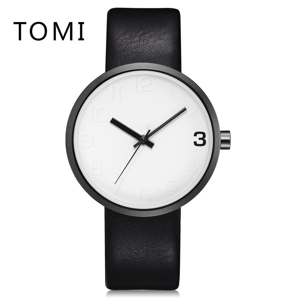 Tomi Brand Watches Men Fashion Business Quartz Watch Simple Sport Leather Strap Waterproof Simple Male Wristwatch Relogio curren men s fashion simple leather simple quartz sport wrist watch