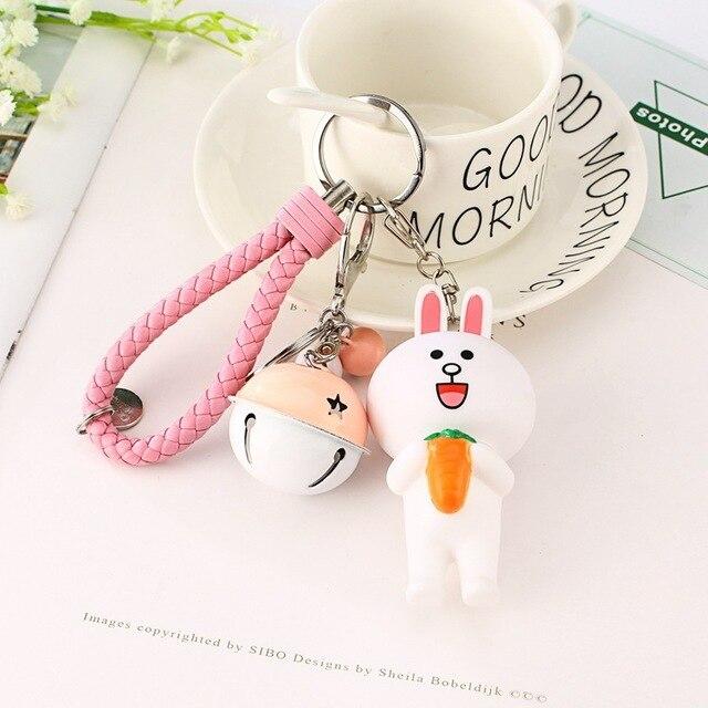 Брелок Мишка и кролик Корея 4