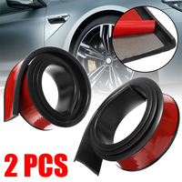 2pcs Soft Car Fender Flare Extension Wheel Eyebrow Protector Lip Wheel arch Trim Wheel Arch Decorative Strip Car Tires 5.5x150cm