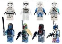 8pcs/set Figures Building Blocks Sets china brandA bounty hunter Bobafett mann da Jangofett d compatible with Lego