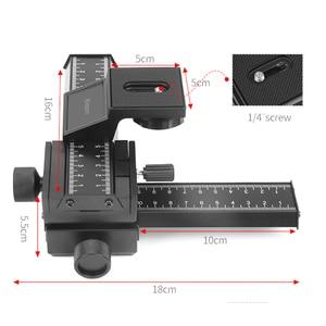Image 4 - Schieten 4 Way Macro Focusing Rail Slider Voor Canon Sony Nikon Pentax Close Up Opnamen Statief Hoofd Met 1/4 schroef Voor Dslr Camera