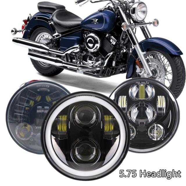 DOT 5-3/4″ 5.75 LED Headlight for Yamaha V-Star XVS 650 950 For Motorcycle Bobber Cafe Racer 40W 45W 65W 80W Headlights