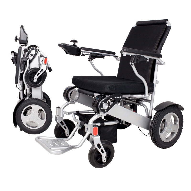 SELF FDA Registered D09 Foldable Motorized Wheelchair Electric Power Wheelchair - Lightweight and Durable - Weighs only 58 lbs w outdoor folding power motorized handicapped electric wheelchair