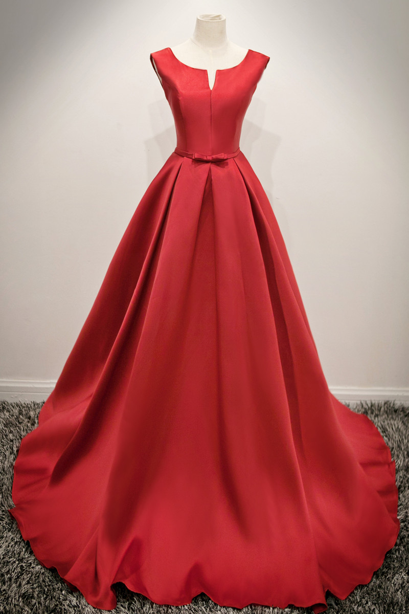 Real Photos Elegant Guest Plus Size Evening Gowns Red Cheap Under 100 Long Prom Formal Evening