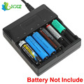 6 Slots Smart Intelligent Battery Charger Indicator LED for 18650 18500 16340 14500 AA AAA Rechargeable Lithium NI-MH Battery