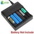 6 ranuras de cargador inteligente inteligente de la batería indicador led para 18650 18500 16340 14500 aa aaa ni-mh batería recargable de litio