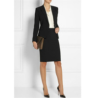 Custom New Women Work Wear Jacket Formal Lady Casual Business Office Skirt Suit Women's Casual Suit Skirt + Suit Set