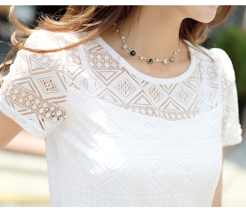 HTB1UAKXNFXXXXbfXFXXq6xXFXXXa - New women tops lace chiffon blouse korean office female clothing