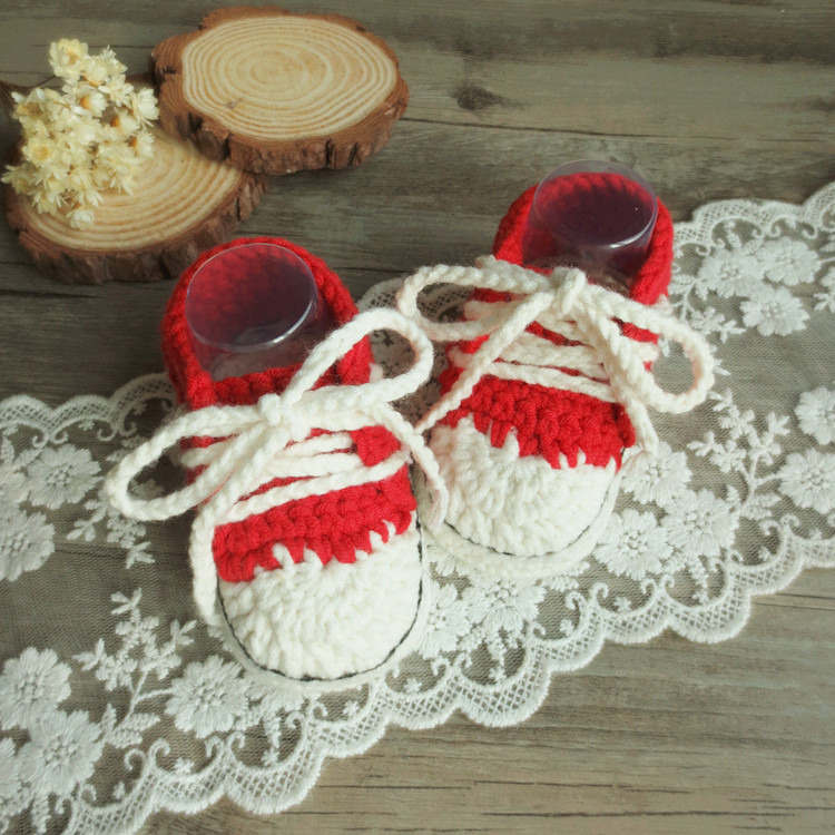 Handmade Crochet Crochet Canvas Shoes, Soft Bottom Baby Baby Wool Shoes, Toddler Shoes, Creative Gifts For Hundred Days ...