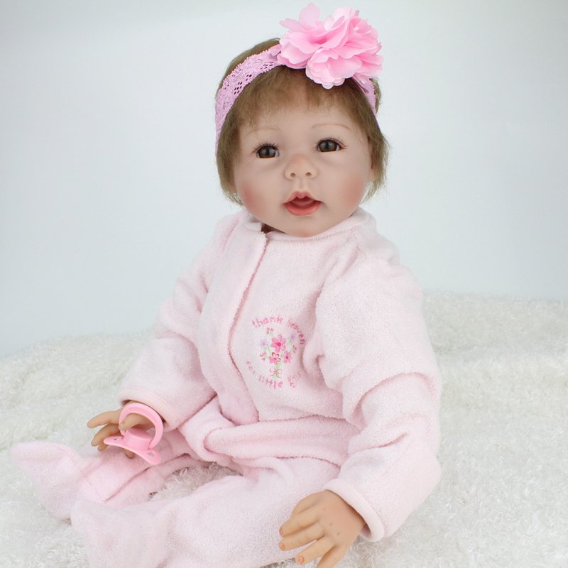 c775c6df9 Lifelike Baby 22inch Silicone Bebe Reborn 55cm Soft Silicone Reborn Dolls  for Sale Boneca Reborn Realista Kids Toys Juguetes-in Dolls from Toys    Hobbies on ...