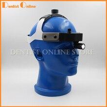 Светодиодный светильник с хирургической головкой со шлемом, высокая мощность, медицинский стоматологический головной светильник, адаптер, медицинский светильник