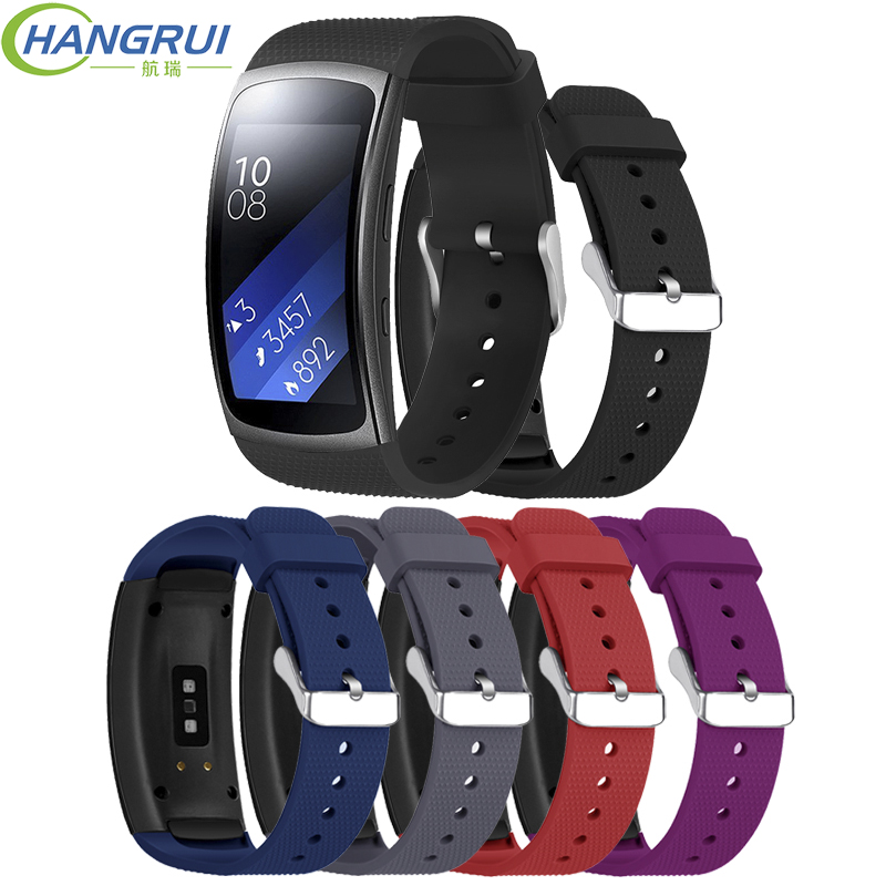 Hangrui Replacement Wristband For Samsung Gear Fit 2 Pro Band Luxury Silicone Watchband For Samsung Fit2 SM-R360 Strap Anti-lostHangrui Replacement Wristband For Samsung Gear Fit 2 Pro Band Luxury Silicone Watchband For Samsung Fit2 SM-R360 Strap Anti-lost