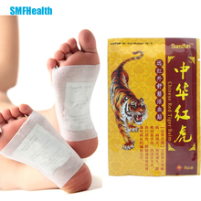 2Pcs Herbal Detox Foot Pad Patch And + 8Pcs Cervical Spondylosis Medicine Plaster Bamboo Massage Relax Pain Relief Z34201