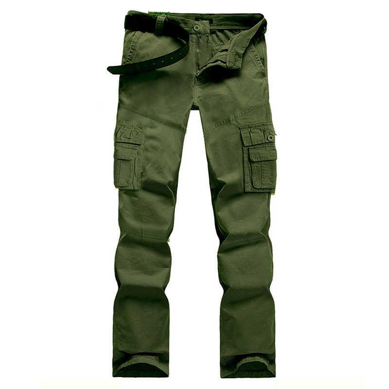 Армейский зеленый бежевый темно серый черный Цвет брюки карго Для мужчин