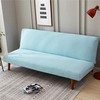 Green Solid Color Sofa Bed Cover Folding Seat Slipcovers Modern Stretch Covers Cheap Armless Couch Protector Towel Wrap Bench