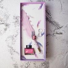 JUGAL stylo en verre, mignon, plume, encre en poudre dorée, coffret cadeau, haut de gamme, stylos de fontaine, outils scolaires, fournitures artistiques