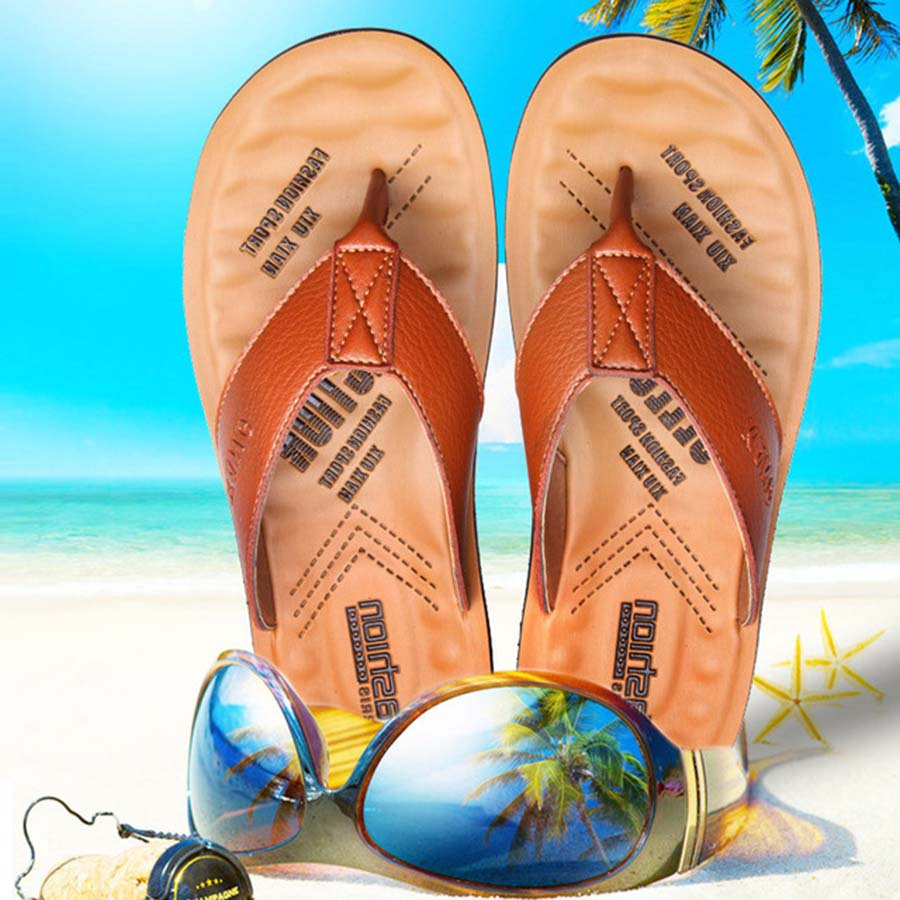 Herrenschuhe Flip-flops Vereinigt Sommer Neue Männer Hausschuhe Nizza Harte-tragen Anti-skid Komfortable Strand Schuhe Koreanische Version Der Trend Casual Flip-flops Männlichen