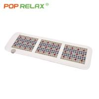 POP RELAX Korea quality VLF health mattress jade tourmaline LED photon light heating physiotherapy mat FIR stone PEMF mat