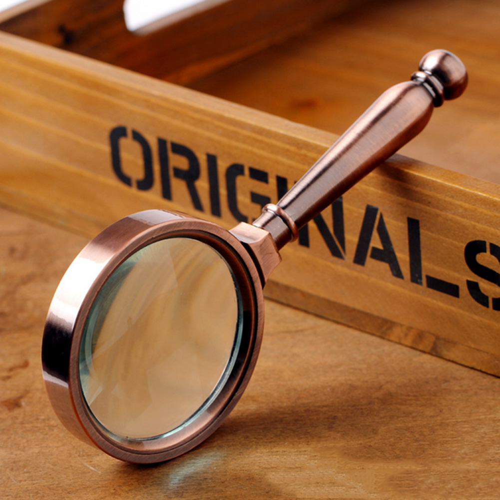 VKTECH Origianl 80mm 10X Handheld Reading Magnifier Glass Optical Tool with Exquisite Package Box Best Gift for Children Kids high quality women s 100% genuine leather brand handbag vintage dumplings shoulder bag women s shell handbags tote dhl fedex ems