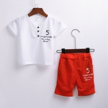 цены 1-3 Years Baby Boys Clothing Sets Summer Children's T Shirts + Shorts  2pcs Suits Bow Pants Sports Kids Clothes Fashion Clothes