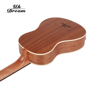 Image 4 - 30 pollici Mini Electrica Chitarra Strumenti Musicali Pieno Sapele Retro Chiuso Knob Ukulele 4 corde Basso Chitarra Guitarra UB 113