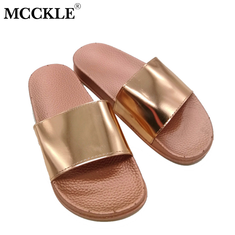 MCCKLE Summer Flat Platform Slides Flip Flops Bling Women Slippers Female Sequined Cloth Beach Casual Shoes Outside Footwear women slippers summer bling beach shoes sequined rivet fashion slippers female light flat platform non slip ladies shoes ald931