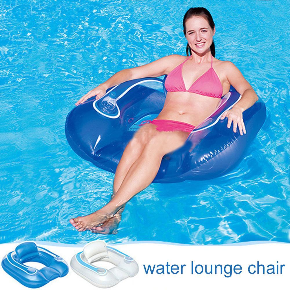102 cm * 94 cm eau extérieure gonflable dossier inclinable siège lit flottant anneau de bain piscine et accessoires