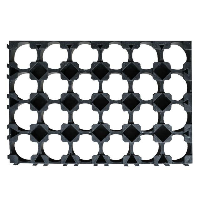 N 5/10 Pcs 4x6 Cell Spacer 18650 Li-ion Battery Holder Bracket Plastic Radiating Rack Cylindrical Batteries Fixture  JD9