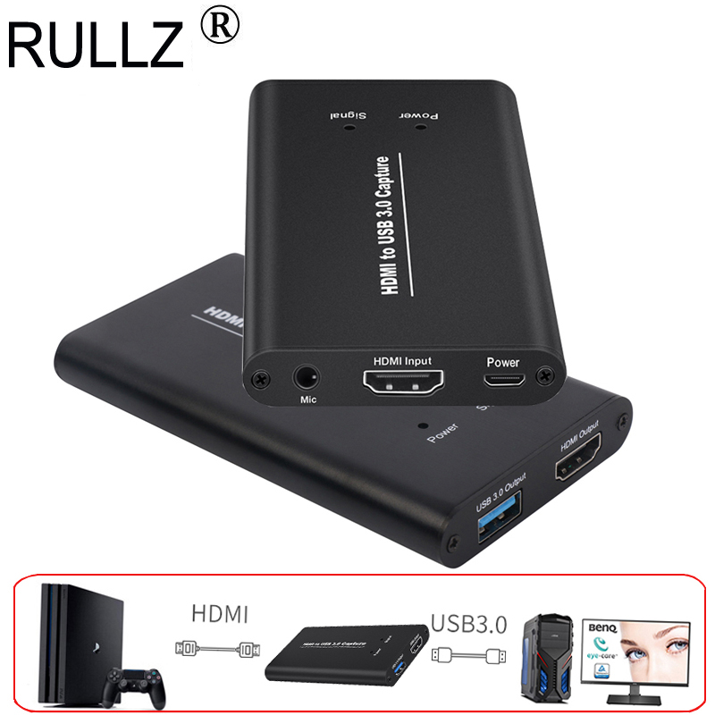 HDMI to USB 3 0 Video Capture 1080P For Blue Ray TV STB box,PS4 XBOX ONE  Game Player,etc, with Mic , Record + PC Live Streaming