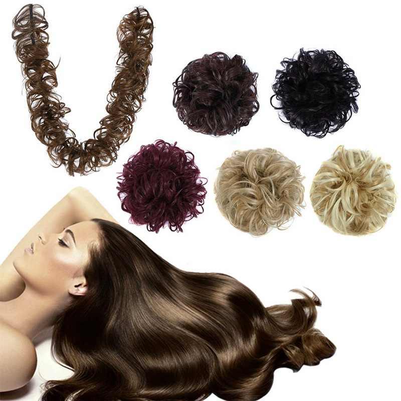 Волосы булочки для наращивания волнистые вьющиеся развивающие волосы для наращивания пончик шиньоны парик для волос пончик Updo хвост