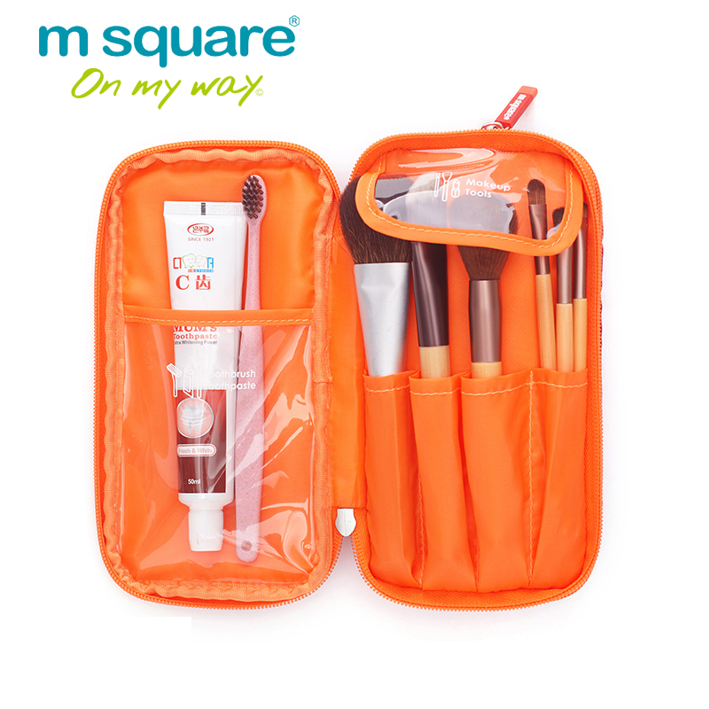M Square Cosmetic Bag Travel Storage Organizer Paint Cosmetic Makeup Brush Bag Holder Toiletry Wash Make Up Tool Bags 20pc magnet paint brush holder strong magnetic clip paint tool hand tool