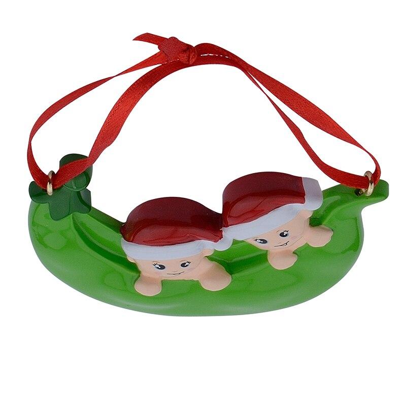 Resina Peapod Familia de 3 adornos navideños Regalos personalizados - Para fiestas y celebraciones - foto 6