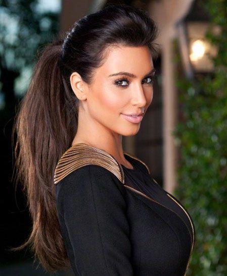 Kim Kardashian Cola De Caballo Glamour Peinado Clip En Directo Wrap