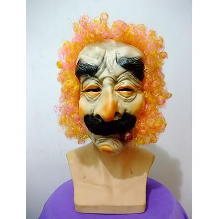 Top Qualität Lustige Scary Raucher Alter Mann Masken Halloween Latex ...