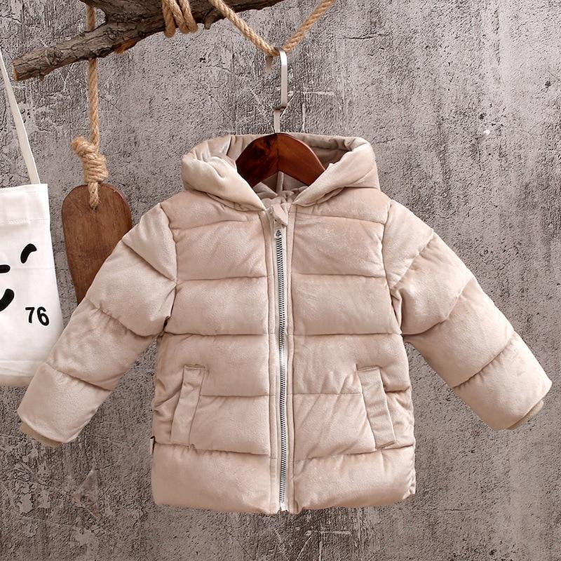 8110dbc5314e Kids Winter Jacket Toddler Boys Warm Coat Baby Girls Velour Fabric ...