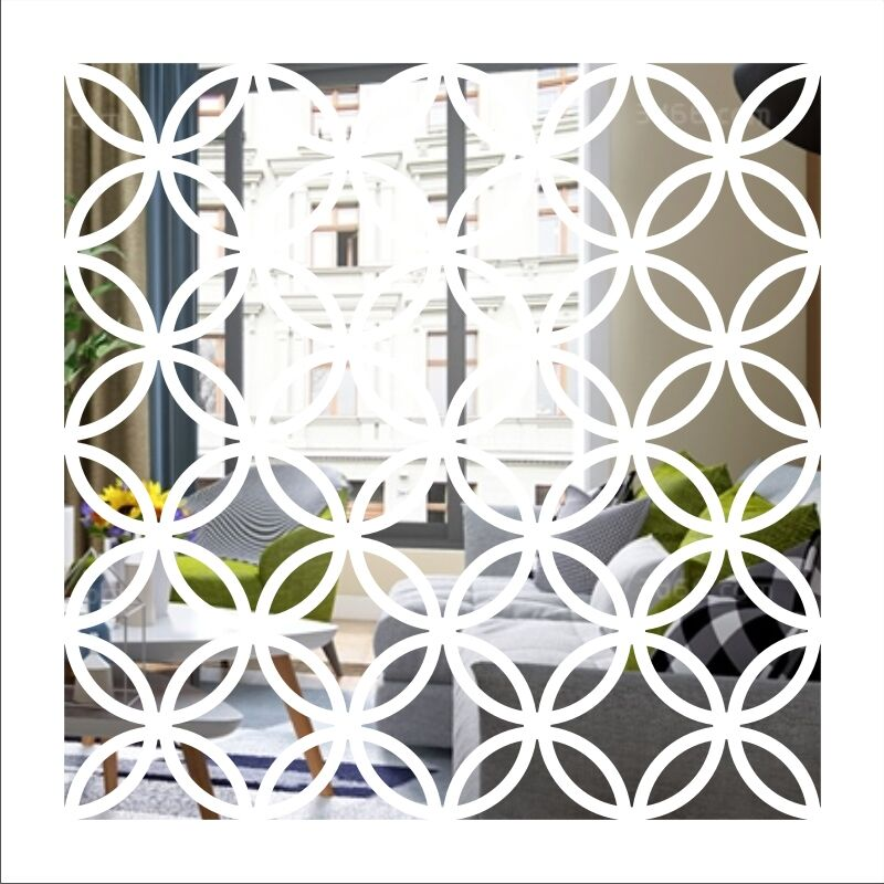 Personalizzato colorato Astratta combinazione circolare pasta parete astratta pittura decorativa splicing di auto adesivo adesivi a specchio - 5