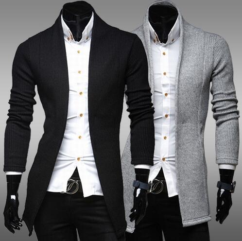 free shipping Mens Stylish Cardigan Sweater Jacket Jumper size M-3XL