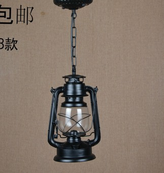 Kerosene Lantern Continental Iron Chandelier Dining Restaurant Modern Garden Living Room Bedroom Study LampChina