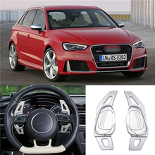 For Audi A5 S3 S5 S6 SQ5 RS3 Practical Car Steering Wheel Shift Paddle Silver Extension Shifters