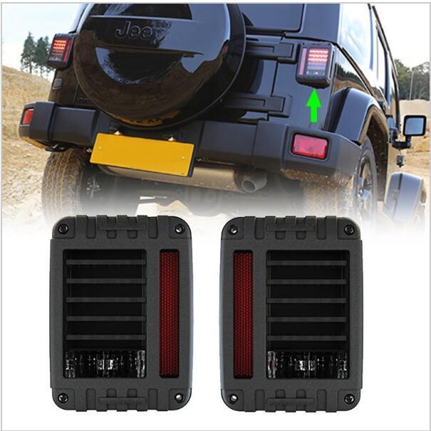 ФОТО 2pcs High quality Europe US version 2007~2016 wrangler JK Led Taillight Brake Light Reverse Light Signal Light For Jeep Wrangler