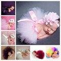 2017 newborn fotografía atrezzo bebé traje traje lindo de la princesa de la falda de ganchillo hecho a mano con cuentas cap venda del bebé vestido de la muchacha