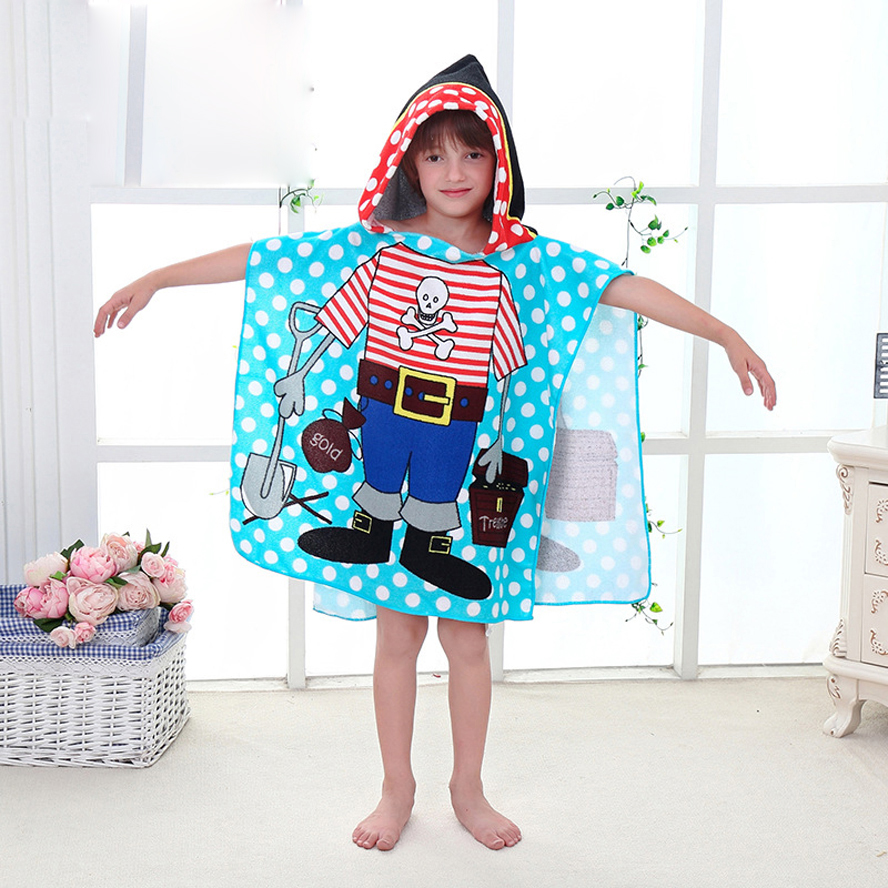 6-13 Lat Dzieci Cartoon Dziecko Kąpiel Ręcznik z Kapturem Bawełna - Opieka nad dzieckiem - Zdjęcie 4