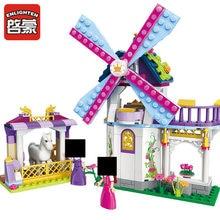 Enlighten Princess Leah Rainbow Windmill 2 Figures Assembled Educational Bricks Toys Girls Friends Building Blocks For Kids Gift недорго, оригинальная цена