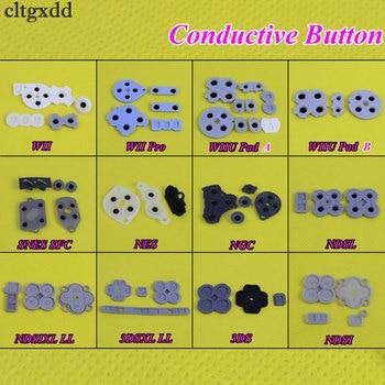 цена на cltgxdd 1Set For WII Pro WIIU Pad Conductive Rubber Adhesive Button Pad Set For Nintendo DS Lite DSL SNES NES for 3DS 3DSXL LL
