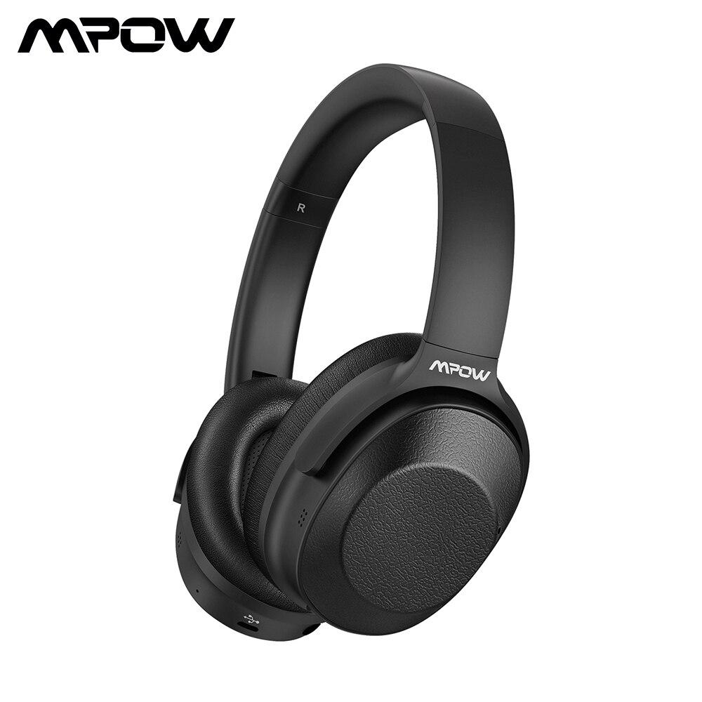 Mpow H12 Bluetooth ANC casque actif suppression de bruit casque sans fil casque filaire avec son HiFi basses profondes 30 H temps de jeu