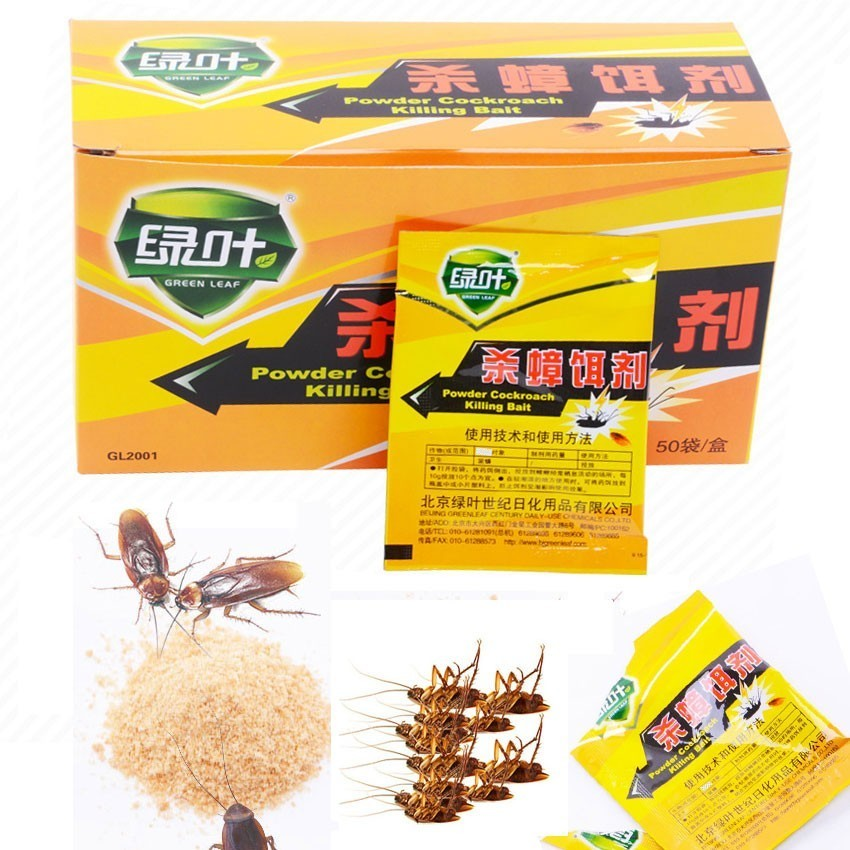 200 Packs Pest Control For Roach Cockroach Killer Powerful Effective Pest Powder Cockroach Killing Bait Insecticide