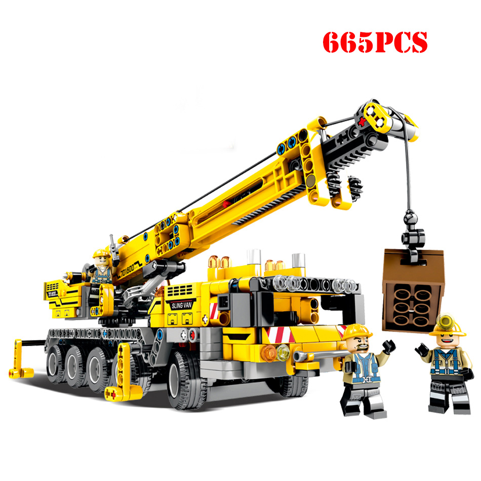 City Construction Engineering Lifting Crane Sets Building ...