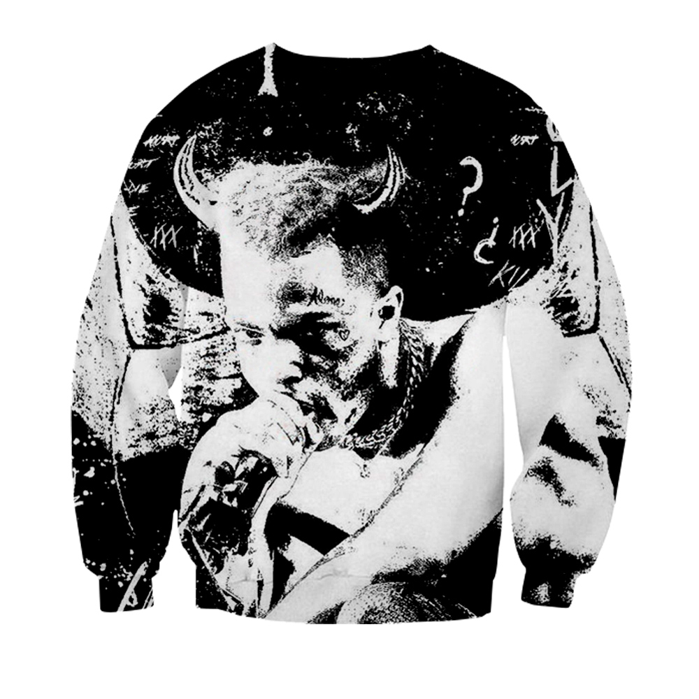 XXXTentacion 3D Print Hoodies Men Women Pullover Warm Autumn 2019 Sweatshirts Oversized 4xl Streetwear Hoodies & Sweatshirts