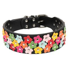 Traumdeutung Big Dog Collars Cats Petal Animals Accessories For Puppy Pet Product Collar Large Dog Supplies Necklace accessoires(China)