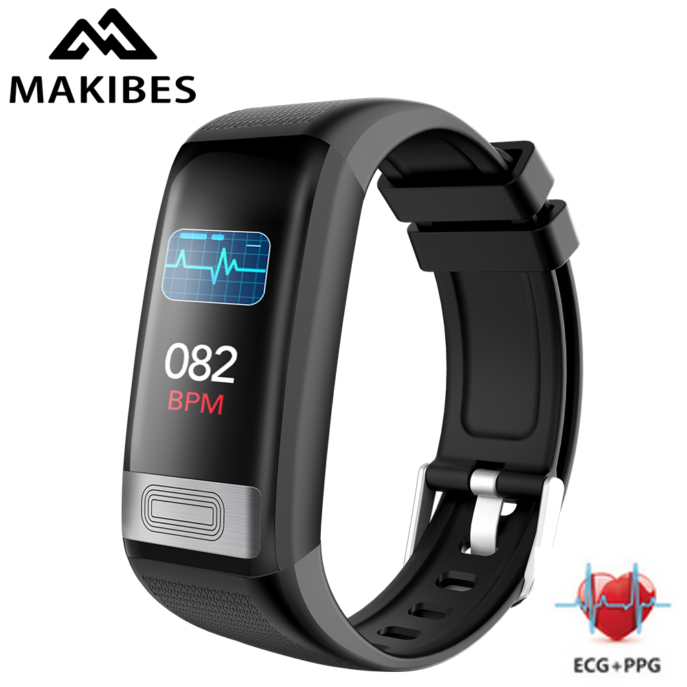Makibes C20S blood pressure wrist band heart rate monitor ECG PPG Smart bracelet watch Activity fitness tracker health wristband|Smart Wristbands| |  - title=